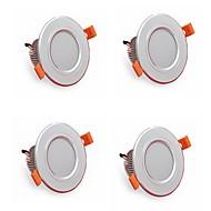 4db 5w 500lm led downlights lámpák 3000k / 4000k / 6500k led lámpa otthoni és irodai ac85-265v
