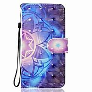 voor case cover kaarthouder portemonnee met standaard flip magnetisch patroon full body case mandala hard pu leer voor Samsung Galaxy J7
