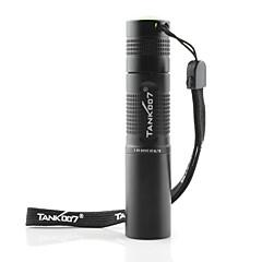 tank007® tk566 365nm 1W-1 en mode lampe led (1xAA / 1x14500, noir)