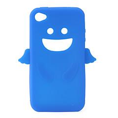Anioł futerał żel krzemionkowy dla iPhone4 - niebieski