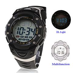 Masculino Relógio de Pulso LCD Calendário Cronógrafo alarme Digital Borracha Banda Preta