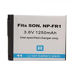 1250mAh pile pour appareil photo NP-FR1 pour Sony DSC-P100 feuilletons et plus
