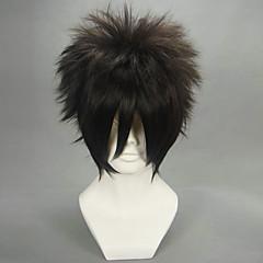 코스프레 가발 나루토 Sasuke Uchiha 블랙 쇼트 에니메이션 코스프레 가발 30 CM 열 저항 섬유 남성