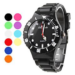 Masculino Relógio Esportivo Quartz Banda Preta / Branco / Azul / Vermelho / Laranja / Verde / Rosa / Roxa / Amarelo marca-