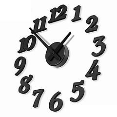 "12 ""DIY 숫자 아날로그 패션 벽 시계 (블랙, 1XAA)"