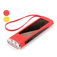 mini-1-mode 3-LED Flashlight (1200lm, Énergie solaire, couleurs assorties)