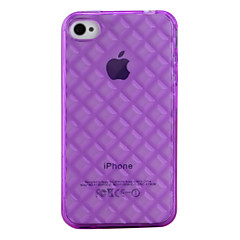 Grid TPU Protective Case for iPhone 4 and 4S (Purple)