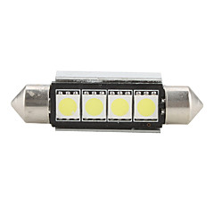 42mm 4 smd led hvitt lys pære