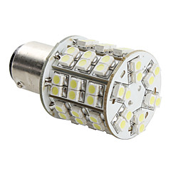 1157 4W 60x3528 SMD White Light LED Bulb for Car Brake Lamp (DC 12V)