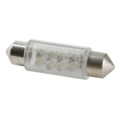 39mm 8-LED White Light Bulb for Car (DC 12V, Set of 4 pcs)