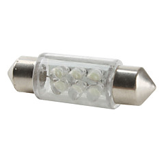 36mm 6-LED White Light Bulb for Car (DC 12V)