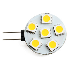 1.5W G4 LED Spotlight 6 SMD 5050 150 lm Warm White DC 12 V