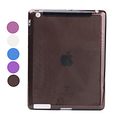 Raindrop Patterned Translucent TPU Case for iPad 3 & iPad 4 (Assorted Colors)