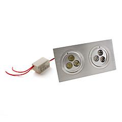 7W Χωνευτό Φως / Φωτιστικό Οροφής Χωνευτή εγκατάσταση 6 LED Υψηλης Ισχύος 540 lm Φυσικό Λευκό AC 85-265 V