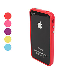 Tpu Etui Med Metal Knapper Til Iphone 4 Og 4S