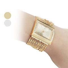 Mujer Reloj de Moda Cuarzo Aleación Banda Destello Dorado Marca-