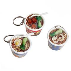 instant noodles vormige sleutelhanger (willekeurige kleuren)