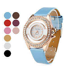 Women's Golden Watchcase Style PU Leather Analog Quartz Wrist Watch (Assorted Colors) Cool Watches Unique Watches