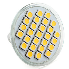 4W E14 / GU10 / GU5.3(MR16) / E26/E27 LED Spotlight MR16 27 SMD 5050 300 lm Warm / Natural White DC12V/220V