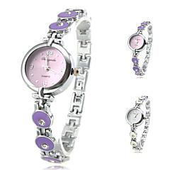 femmes en alliage mode analogique de style bracelet montre à quartz (couleurs assorties)