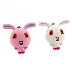 Rabbit Flashlight Keychain with Sound (Random Colors)