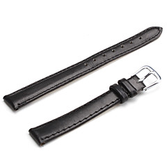 Unisex PU Leather Watch Strap 12MM(Black)