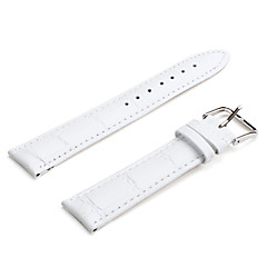unisexe authentique bracelet en cuir 20mm (blanc)
