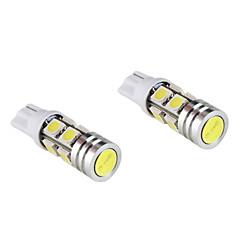 t10 bombilla 3w luz blanca para coche dashboard / ancho / lámparas de señal de giro (2-pack, dc 12v)