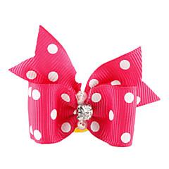 katten honden Vachtaccessoires Strikken Roze Hondenkleding Zomer Lente/Herfst Strik Verjaardag Vakantie