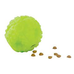 Cani Giocattoli per animali Palla / Giochi morbidi Erogatore di cibo Verde Silicone
