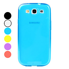 yksinkertainen tyyli pehmeä TPU kotelo Samsung Galaxy S3 i9300 (valikoituja värejä)