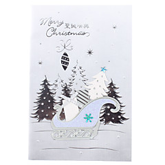 10-Pack Christmas Gifts Hollow Pattern Christmas Greeting Card with Envelope (10-inch)