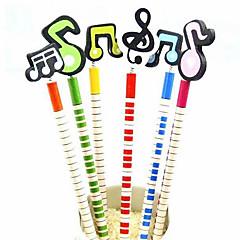 farverige musikalske note design blyant (6-pack)