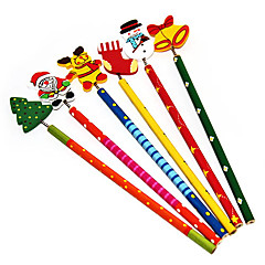 Christmas Stationery Colorful Wooden Pencil(Random Color)