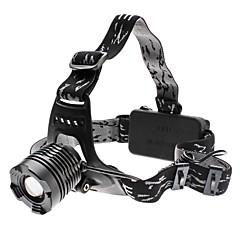 Focus Säädettävä Zoom 3-Mode Cree XM-L T6 LED ajovalaisin (10w, 1000LM, 2x18650)