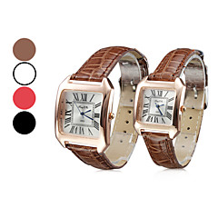 Women's Casual Style PU Analog Quartz Wrist Watch (Assorted Colors)