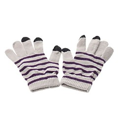 Stripes Pattern Capacitive Touch Screen Protective Wool Gloves for iPhone , iPad and Others (Assorted Colors)