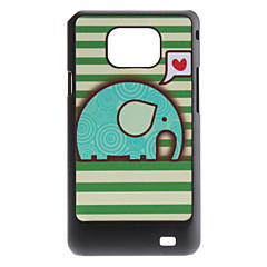 Flash Design Gullig elefant Mönster Hard Case för Samsung Galaxy S2 i9100