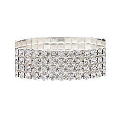 Silver Plated Brimmy Bracklet Crystal