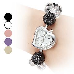 Kvinder Justerbar Band Style Plastic Analog Quartz Bracelet Watch (Assorterede farver)