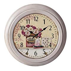 "12.75""H Tea Time Metal Wall Clock"