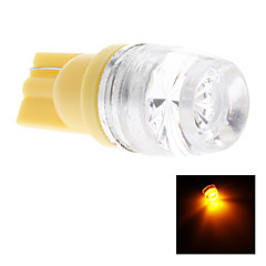 T10 1.5W Yellow Light LED Bulb for Car Side Maker Lamp (DC 12V)