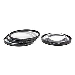 4pcs 77mm Close-Up Kit filtre pour appareil photo avec sac filtrant (+1, +2, +4, +10)