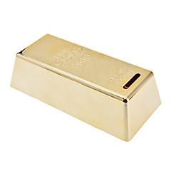 Creative Gold Bullion Shaped Coin Bank