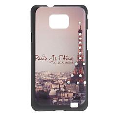 Eiffeltornet Mönster Hard Case för Samsung Galaxy S2 i9100