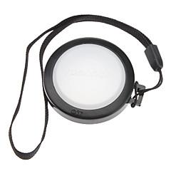MENNON 37mm kamera Hvidbalance Objektivdæksel Cover med Håndrem (Black & White)