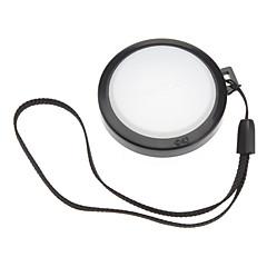 mennon 43mm kamera el askısı ile beyaz dengesi lens kapağı kapak (siyah ve beyaz)