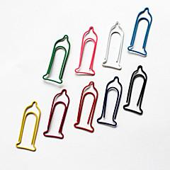 Condom modèle Clips en plastique enveloppé de papier (10pcs Couleurs aléatoires)