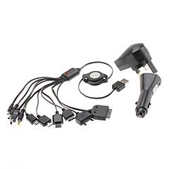 Universal USB Retractable Charger kanssa Autolaturi YXT-040