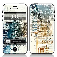 Retro Design Fram och tillbaka Displayfilm till iPhone 4/4S